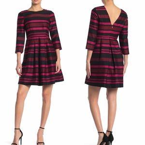 NWT Draper James Striped 3/4 Sleeve Dress Size 10